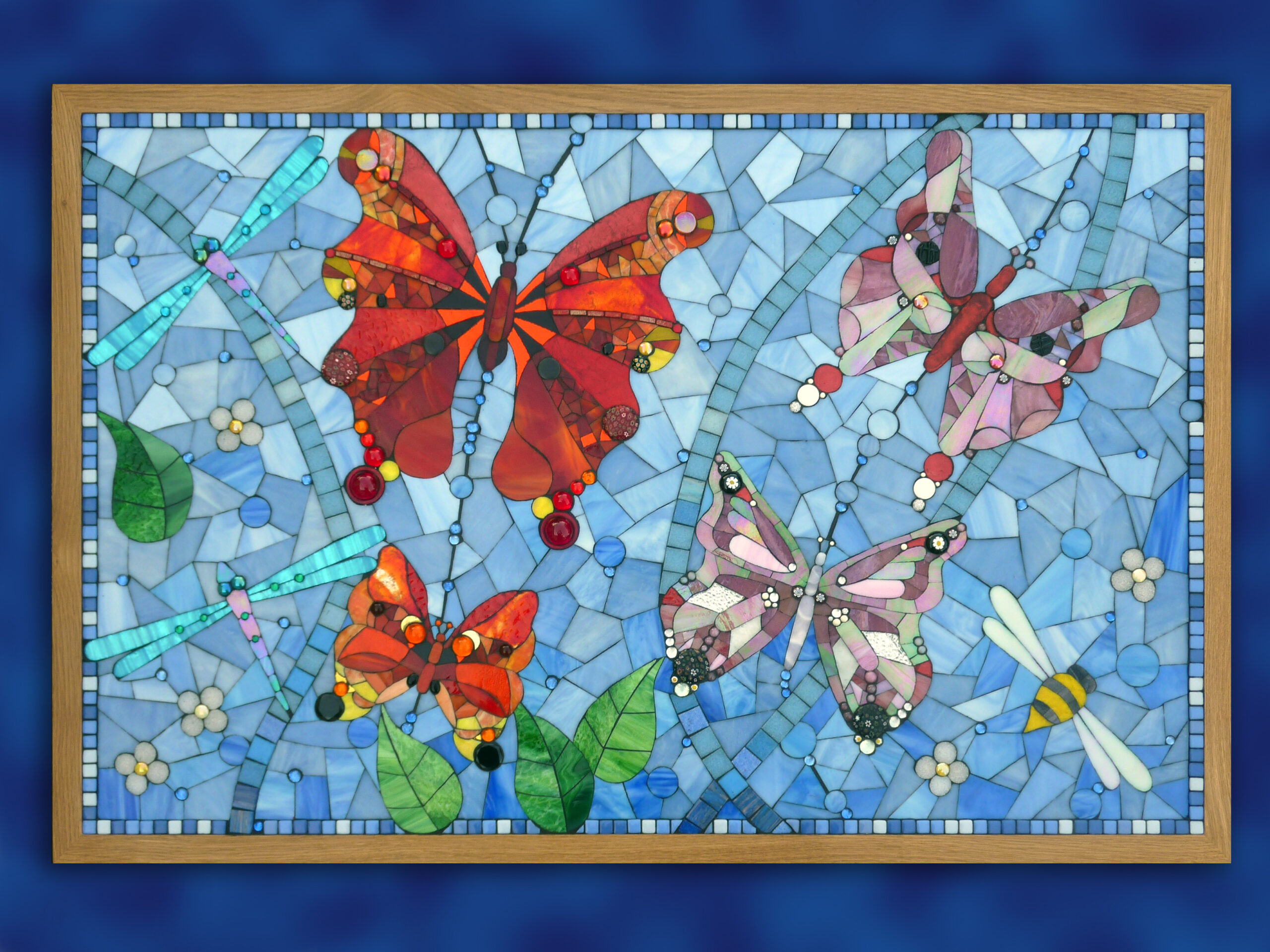 Mosaic triptych for Day Centre for Scarborough Hospital  Held in private collection