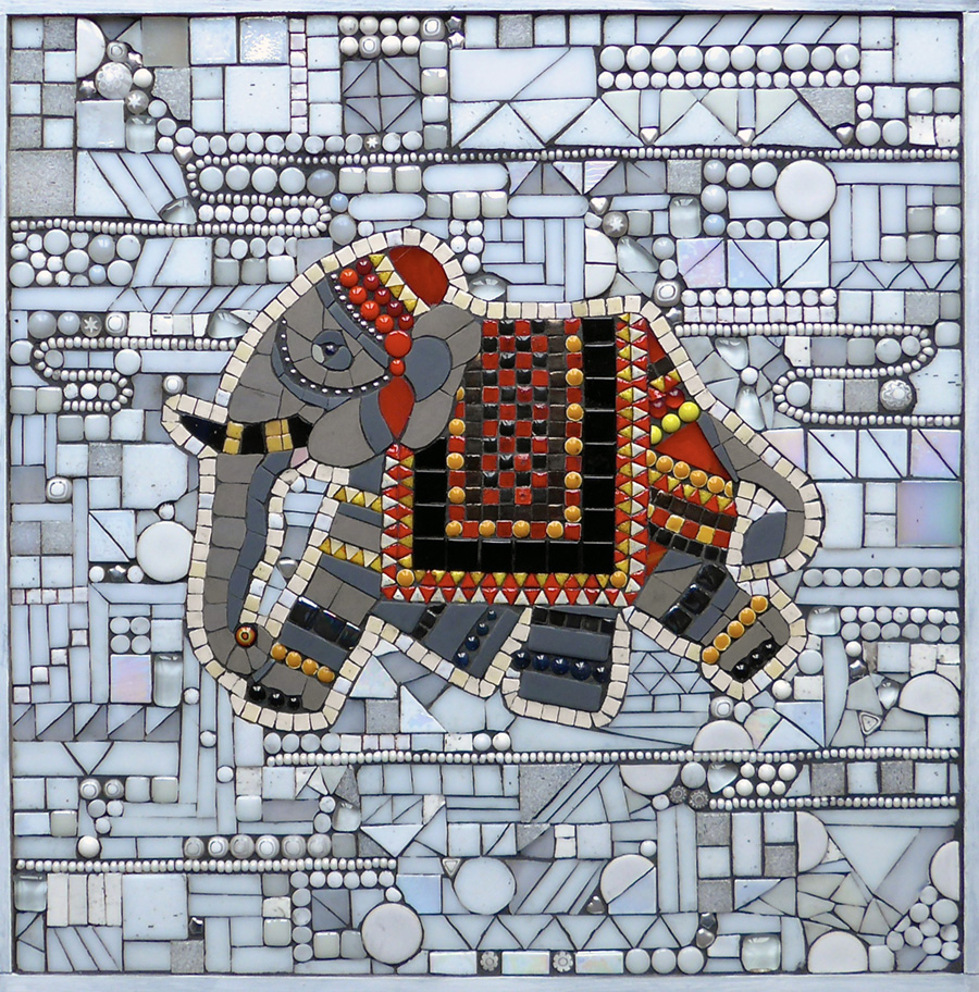 SW mosaics Cockington Court poster